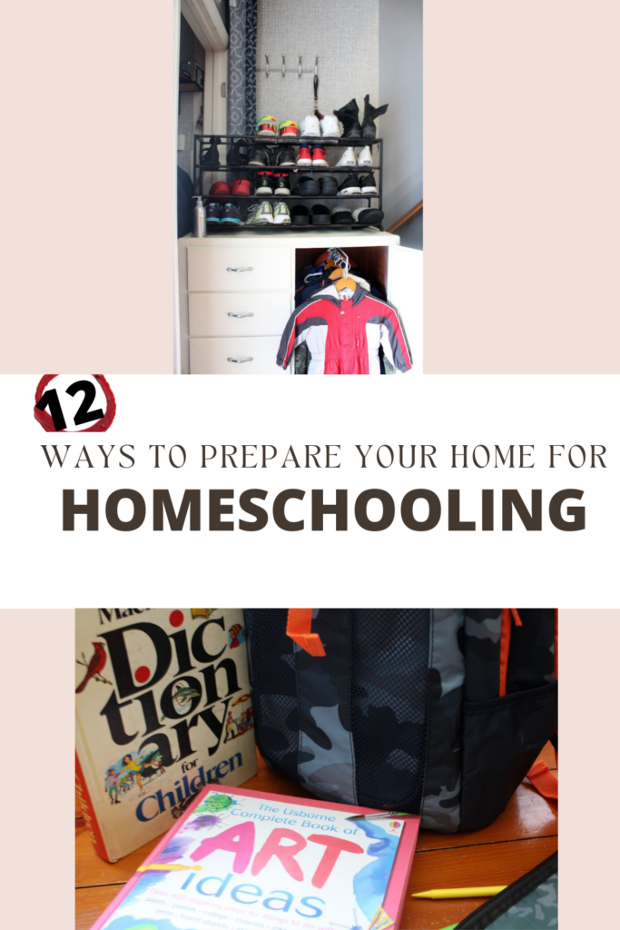 12 ways to prepare your home for homeschool