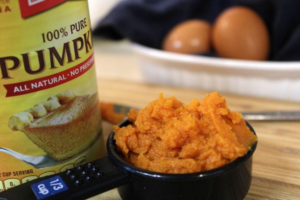 libby's puree pumpkin for making chocolate chip sourdough pumpkin waffles